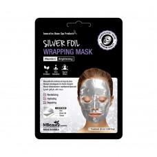 Восстанавливающая серебряная фольгированная маска для лица с витамином С , 25мл*3 шт, MBeauty